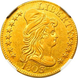 Image of 1803/2 $5 NGC AU58