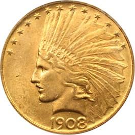 Image of 1908 $10 PCGS MS63 (No Motto)