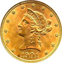 Image of 1901 $10 PCGS/CAC MS64