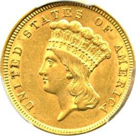 Image of 1854 $3 PCGS AU58