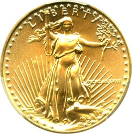 Image of 1988 Gold Eagle $25 PCGS MS69
