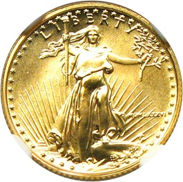Image of 1986 Gold Eagle $5 NGC MS69