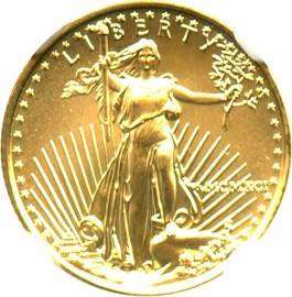 Image of 1991 Gold Eagle $5 NGC MS69