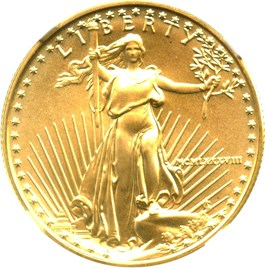 Image of 1988 Gold Eagle $25 NGC MS69