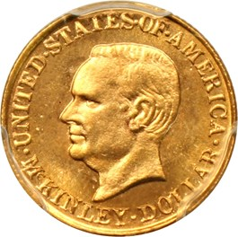 Image of 1917 McKinley G$1 PCGS MS66