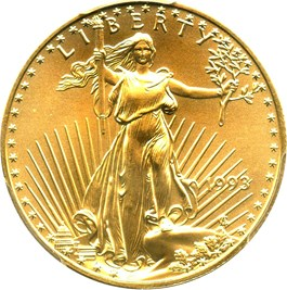 Image of 1993 Gold Eagle $25 PCGS MS69