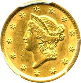 Image of 1852-O G$1 PCGS AU58