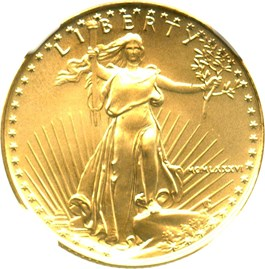 Image of 1986 Gold Eagle $10 NGC MS69