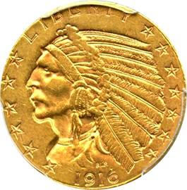 Image of 1916-S $5 PCGS AU58