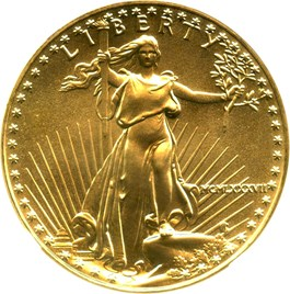 Image of 1987 Gold Eagle $50 NGC MS69