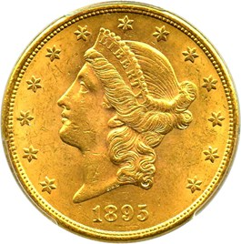 Image of 1895-S $20 PCGS MS63