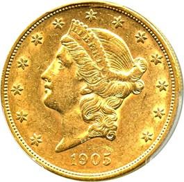 Image of 1905 $20 PCGS/CAC AU55