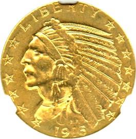 Image of 1915-S $5 NGC AU55