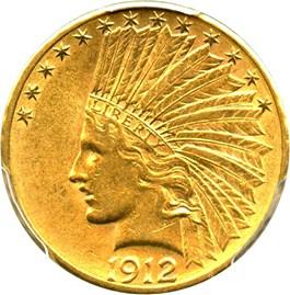 Image of 1912-S $10 PCGS/CAC AU58