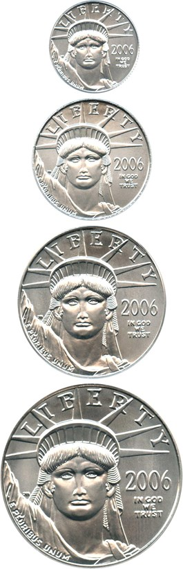 Image of 2006 Eagle Set Platinum PCGS MS69 (Statue of Liberty, 4 Coins)