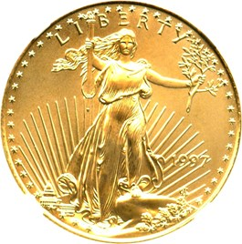Image of 1997 Gold Eagle $25 NGC MS69