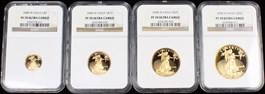 Image of 2008-W Gold Eagle Set NGC Proof 70 UCAM (4 Coins: $5, $10, $25 & $50)