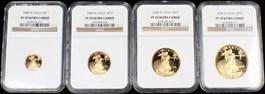 Image of 2008-W Gold Eagle Set NGC Proof 70 UCAM (4 Coins: $5, $10, $25 & $50)