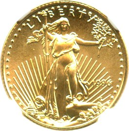 Image of 1996 Gold Eagle $5 NGC MS69