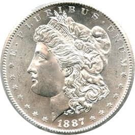 Image of 1887-S $1 PCGS MS65