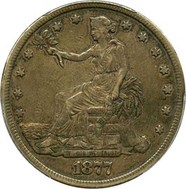 Image of 1877 Trade$ PCGS VF35