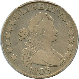 Image of 1803 50c PCGS VG-08 (large 3)