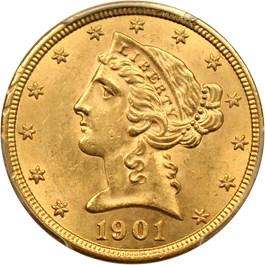 Image of 1901 $5 PCGS MS62