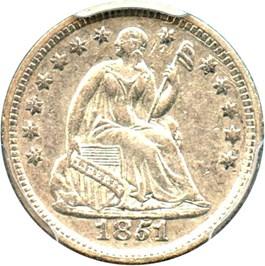 Image of 1851-O H10c PCGS AU50