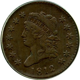 Image of 1812 1c PCGS XF45 BN (Large Date)