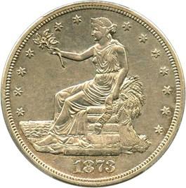 Image of 1873-S Trade$ PCGS AU50