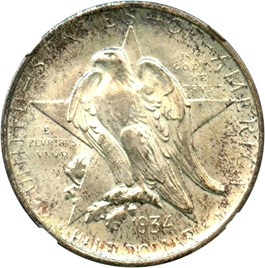 Image of 1934 Texas 50c NGC MS66
