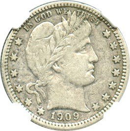 Image of 1909-O 25c NGC VF25