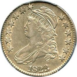 Image of 1823 50c PCGS AU53