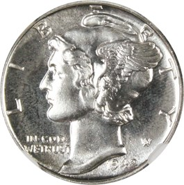 Image of 1942 10c NGC/CAC Proof 66