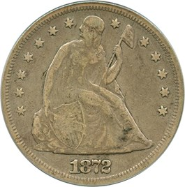 Image of 1872 $1 PCGS/CAC VG-10 (OGH)