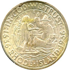 Image of 1936-S Rhode Island 50c PCGS/CAC MS66
