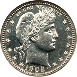 Image of 1902 25c NGC/CAC Proof 61
