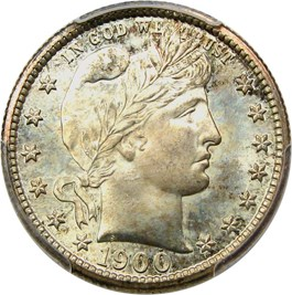 Image of 1900-S 25c PCGS/CAC MS66