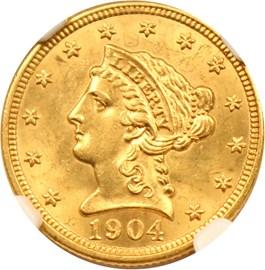 Image of 1904 $2 1/2 NGC MS63
