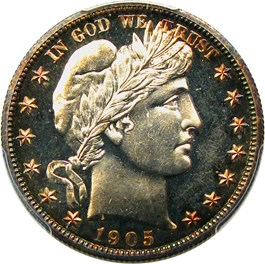Image of 1905 50c PCGS Proof 65 CAM