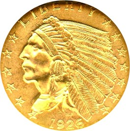 Image of 1926 $2 1/2 NGC MS63