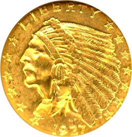 Image of 1927 $2 1/2 NGC MS63