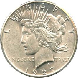 Image of 1927 $1 PCGS AU58