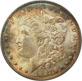 Image of 1887-O $1 PCGS/CAC MS64