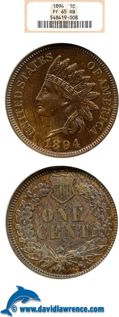 Image of 1894 1c  NGC Proof 65 RB