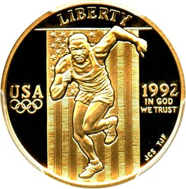 Image of 1992-W Olympic Sprinter $5 PCGS Proof 69 DCAM