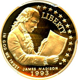 Image of 1993-W Madison $5 PCGS Proof 69 DCAM