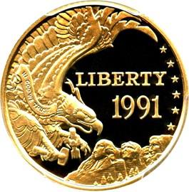 Image of 1991-W Mt. Rushmore $5 PCGS Proof 69 DCAM