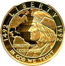 Image of 1992-W Columbus $5 PCGS Proof 69 DCAM