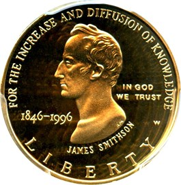Image of 1996-W Smithsonian $5 PCGS Proof 69 DCAM